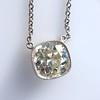 2.01ct Cushion Cut Diamond Bezel Necklace 3