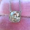 2.01ct Cushion Cut Diamond Bezel Necklace 19