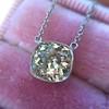 2.01ct Cushion Cut Diamond Bezel Necklace 14