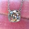 2.01ct Cushion Cut Diamond Bezel Necklace 4