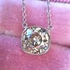 2.01ct Cushion Cut Diamond Bezel Necklace 20