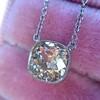 2.01ct Cushion Cut Diamond Bezel Necklace 24