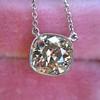 2.01ct Cushion Cut Diamond Bezel Necklace 5