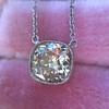 2.01ct Cushion Cut Diamond Bezel Necklace 13