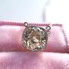 2.01ct Cushion Cut Diamond Bezel Necklace 28