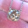 2.01ct Cushion Cut Diamond Bezel Necklace 22