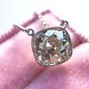 2.01ct Cushion Cut Diamond Bezel Necklace 27