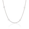 2.50ctw Diamonds-by-the-yard Necklace, Platinum 0