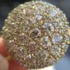 2.51ctw Mixed Antique Cut Diamond Disc Pendant 8