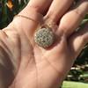 2.51ctw Mixed Antique Cut Diamond Disc Pendant 7