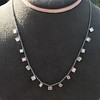 2.88ctw 18kt White Gold Scatter Necklace 4