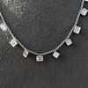 2.88ctw 18kt White Gold Scatter Necklace 1