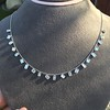 2.93ctw Mixed Step Cut Diamonds-by-the-yard Necklace 5