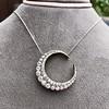 3.18ctw Victorian Diamond Crescent Pendant 13