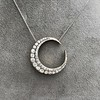3.18ctw Victorian Diamond Crescent Pendant 14