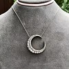 3.18ctw Victorian Diamond Crescent Pendant 6