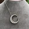 3.18ctw Victorian Diamond Crescent Pendant 3