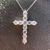 3.24ctw Round Brilliant Diamond Cross 3