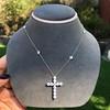 3.24ctw Round Brilliant Diamond Cross 25