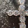 3.24ctw Round Brilliant Diamond Cross 10