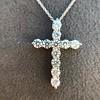 3.24ctw Round Brilliant Diamond Cross 17