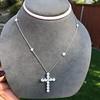 3.24ctw Round Brilliant Diamond Cross 24