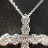 3.24ctw Round Brilliant Diamond Cross 9