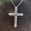 3.24ctw Round Brilliant Diamond Cross 16