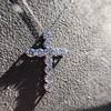3.24ctw Round Brilliant Diamond Cross 20