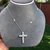 3.24ctw Round Brilliant Diamond Cross 6