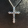 3.24ctw Round Brilliant Diamond Cross 19