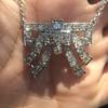 3.45ctw Art Deco Diamond and Platinum Pendant 15