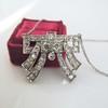 3.45ctw Art Deco Diamond and Platinum Pendant 9