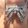 3.45ctw Art Deco Diamond and Platinum Pendant 25