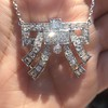 3.45ctw Art Deco Diamond and Platinum Pendant 27