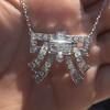 3.45ctw Art Deco Diamond and Platinum Pendant 17