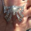 3.45ctw Art Deco Diamond and Platinum Pendant 13