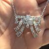 3.45ctw Art Deco Diamond and Platinum Pendant 18