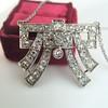 3.45ctw Art Deco Diamond and Platinum Pendant 10
