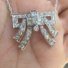 3.45ctw Art Deco Diamond and Platinum Pendant 16