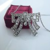 3.45ctw Art Deco Diamond and Platinum Pendant 0