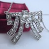 3.45ctw Art Deco Diamond and Platinum Pendant 1