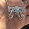 3.45ctw Art Deco Diamond and Platinum Pendant 3