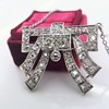 3.45ctw Art Deco Diamond and Platinum Pendant 4