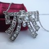 3.45ctw Art Deco Diamond and Platinum Pendant 22