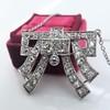 3.45ctw Art Deco Diamond and Platinum Pendant 6