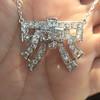 3.45ctw Art Deco Diamond and Platinum Pendant 14