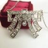 3.45ctw Art Deco Diamond and Platinum Pendant 11