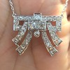 3.45ctw Art Deco Diamond and Platinum Pendant 24