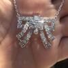3.45ctw Art Deco Diamond and Platinum Pendant 2